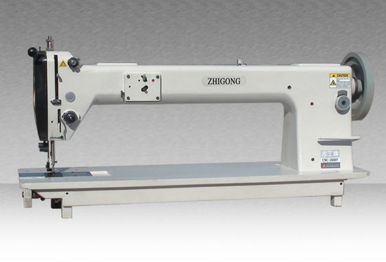 GSC2600-L25 Long-arm Sewing Machine for Extremely Thick Material with upper and lower Complex Feeding